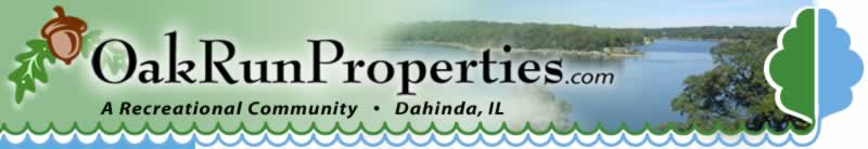 OakRunProperties.com.  Oak Run - A recreational Community.  Dahinda, IL